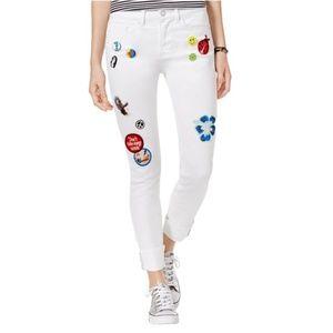 NEW Indigo Rein | White Patch Skinny Jeans size 5